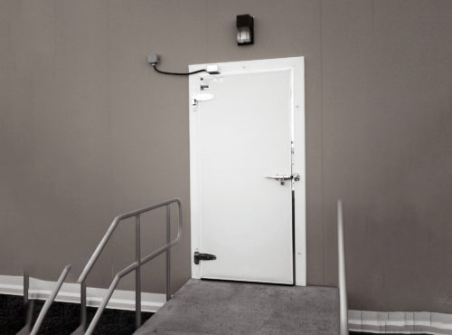 Cold Guard Swing Door Exterior Application image