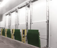 Cold Guard Vertical Lift Doors lineup Application image 2