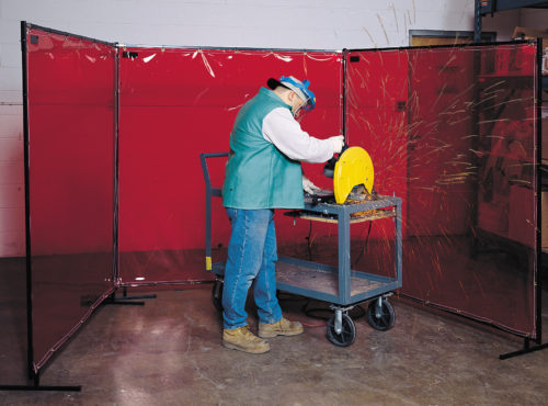 Portable Weld Screen Red 2