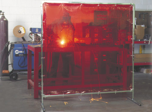 Portable Weld Screen Red