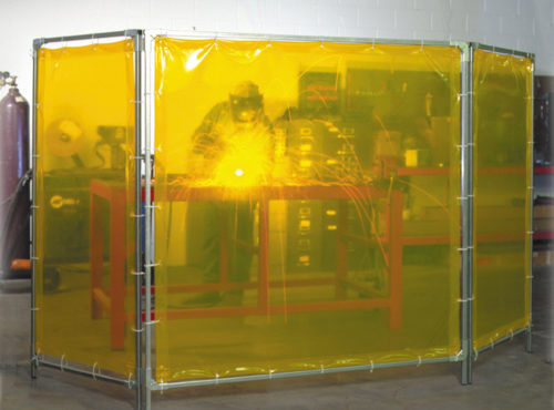 Portable Weld Screen Yellow